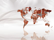 World map. Illustration abstract background Royalty Free Stock Photos