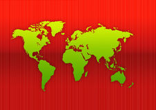 World map. Map of the world - world illustration red line background Royalty Free Stock Photography