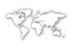 World Map in 3D vector illustration