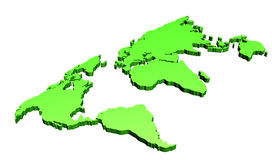 World map in 3d Royalty Free Stock Photography