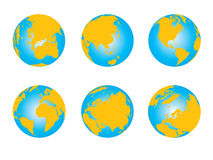 World map, 3D globe series Stock Photos