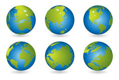 World map, 3D globe series Stock Photography
