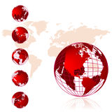 World map, 3D globe series Stock Photography
