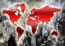 World map. Illustration abstract background Royalty Free Stock Images