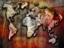 World map. Illustration abstract background Royalty Free Stock Photo