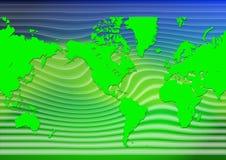 World map. Stylish world map with waves vector illustration