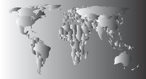 World Map. Africa, America, Asia, Europe & Oceania Stock Photo