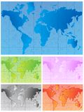 World map. Illustration of world map with few colors Royalty Free Stock Photos