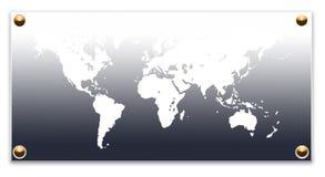 World map. 2D digital art Stock Photo