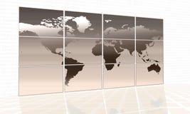 World map. On a huge screen vector illustration