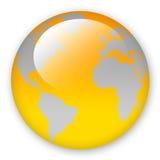 World Map. Orange world map isolated on white stock illustration
