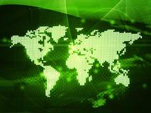 World map. Technology-style (America,Europe,asia