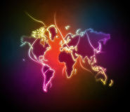 World map. Illustration abstract background Royalty Free Stock Photography