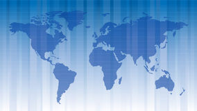 World map. In blue color vector illustration