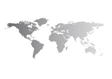 World Map. Vector file in carbon style royalty free illustration
