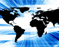 World map. On a dark blue background Royalty Free Stock Image