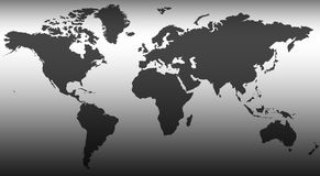 World Map. An abstract map of the World Stock Image