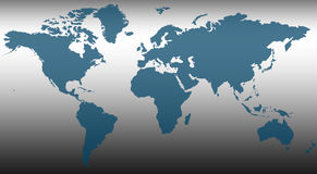 World Map. An abstract map of the World Stock Photography