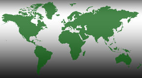 World Map. An abstract map of the World Royalty Free Stock Image