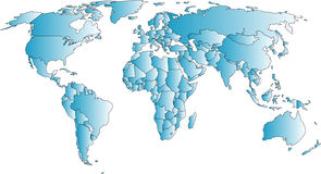 World map. Map royalty free illustration