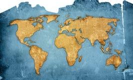 World map. Vintage artwork (America,Europe,asia Stock Photos
