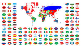 World map. Extra detailed map of the world illustration Stock Photography