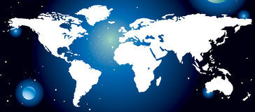 World map. Give see each continent location Royalty Free Illustration
