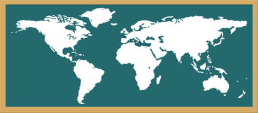 World map. Give see each continent location Stock Illustration