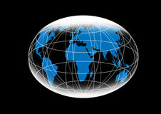 World map. Illustration royalty free illustration