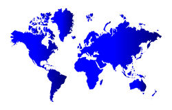 World map. A colorful map of the world on isolated background Royalty Free Stock Image