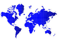World map. A colorful map of the world on isolated background Royalty Free Stock Images