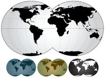 World map. Vector illustration of world map Royalty Free Stock Photography