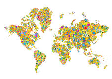 World map. In circle. illustrator file Stock Photo