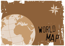 World map. Vector illustration of the world Royalty Free Stock Photos