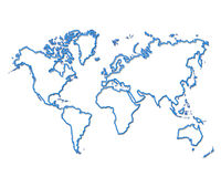 World map. In isolated background royalty free illustration