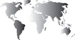 World map. Map of the world with gradient Royalty Free Stock Image