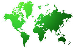 World map. A colorful ecology map of the world on isolated background Stock Photography