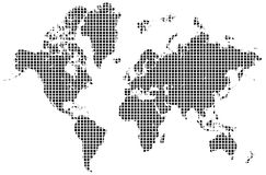 World map. A colorful map of the world on isolated background Stock Photos