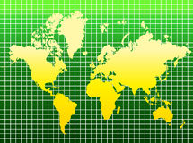 World map. A colorful ecology map of the world on isolated background Royalty Free Stock Photos