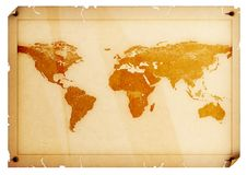 World Map. World. World map. Map of the world. World Illustration royalty free illustration