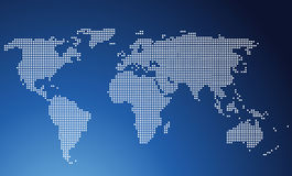 World map. On blue gradient background Stock Image
