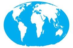 World map. On isolated background Royalty Free Stock Photo
