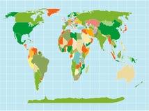 World map. Detailed world map on isolated background Royalty Free Stock Photos