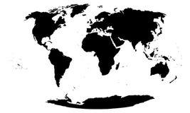 World map. Detailed world map on isolated background Stock Image