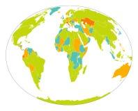 World map. Detailed world map on isolated background Stock Images