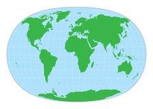 World map. Detailed world map on isolated background Royalty Free Stock Photo