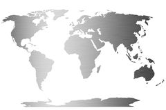 World map. Word map as a symbol for global business on white background Royalty Free Stock Photo