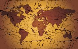 WORLD MAP. Ancient map of the world vector royalty free illustration