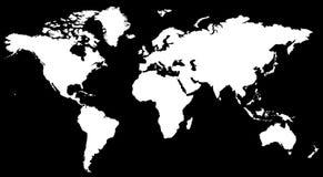 WORLD MAP. Vector Background Illustration Stock Image