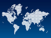 World map. Detailed world map on gradient background Stock Photos